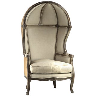 Linen & Burlap Speak Easy Chair