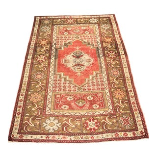 """Bellwether Rugs Distressed Vintage Turkish Oushak Small - 3'5""""x5'3"""""""