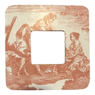 Contemporary Rose Toile Picture Frame
