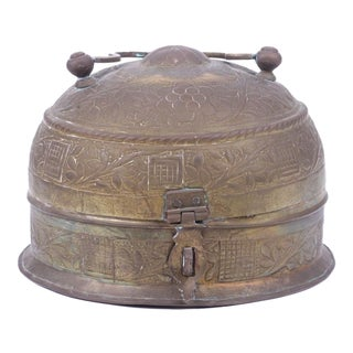 Indian Brass Repousse Chapati Box