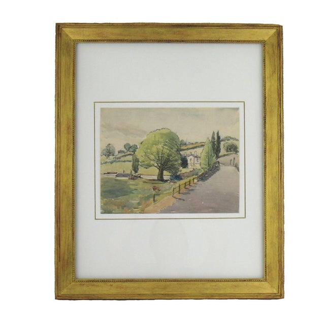 Original French Watercolor Painting 1930s - Image 1 of 5