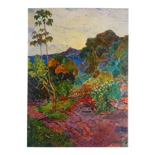 """Gaugin Vintage 1972 Lithograph Print """"Martinique Landscape"""""""