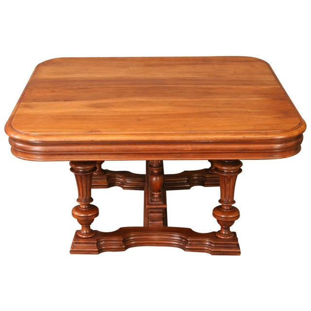 Image of Antique French Henry II Walnut Pub Coffee Table