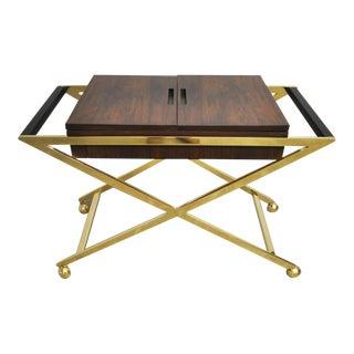 Brass X-Base Serving Cart