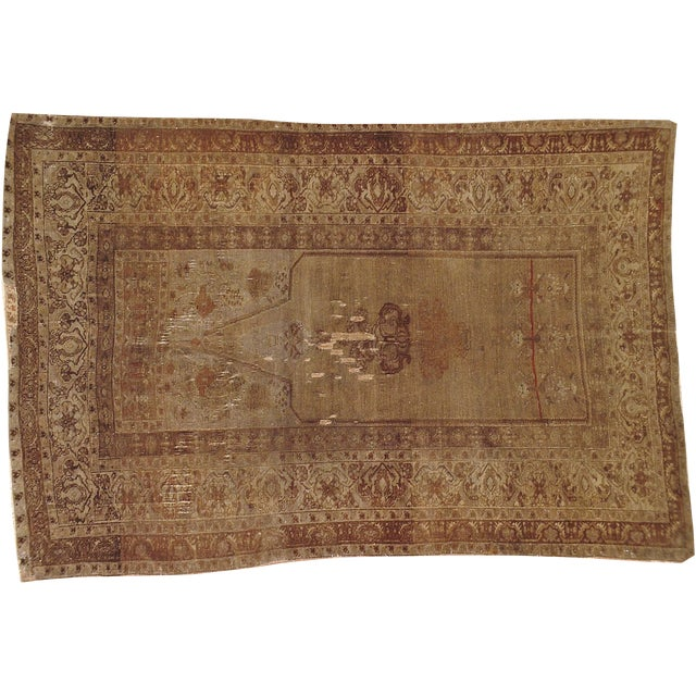 "Image of Antique Turkish Distressed Rug - 4'1"" X 6'2"""