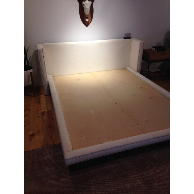 New/Unopened Croft House Upholstered Jayma Platform Bed W/ Nailhead - Full - Image 3 of 7