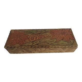Antique Wooden Dresser Box