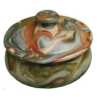 Moroccan Handmade Ceramic Lidded Bowl