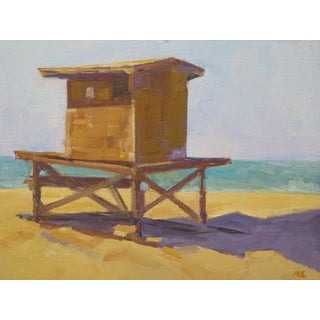 Contemporary Oil Guard Stand, Newport Beach Painting