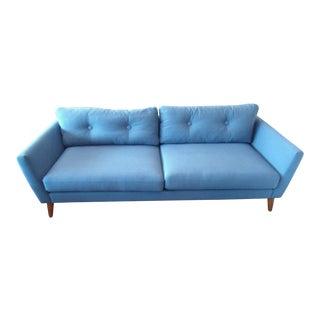 Marine Blue Button Tufted Sofa
