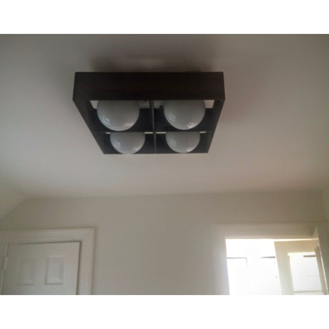Mid-Century Orb Four-Light Ceiling Fixture - Image 8 of 10