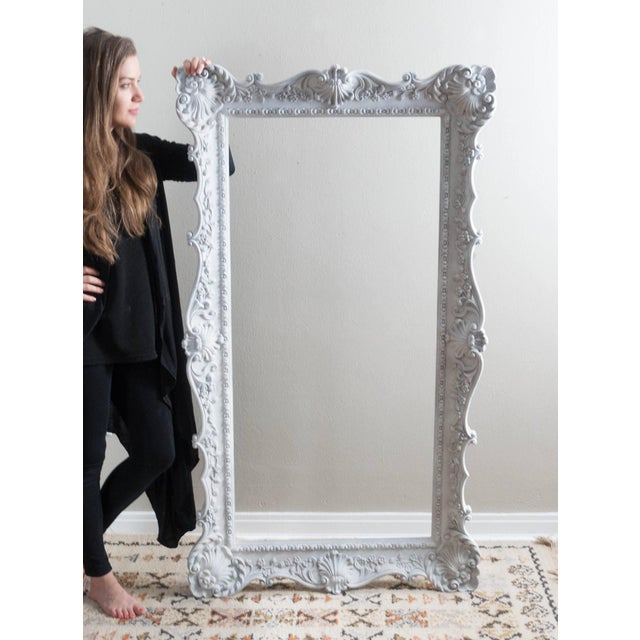 vintage extra large ornate white picture frame image 3 of 6 - Extra Large Frames