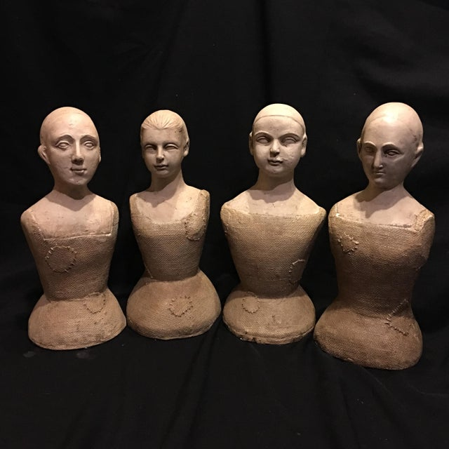 Image of Ceramic Chinese Clothing Forms - Set of 4