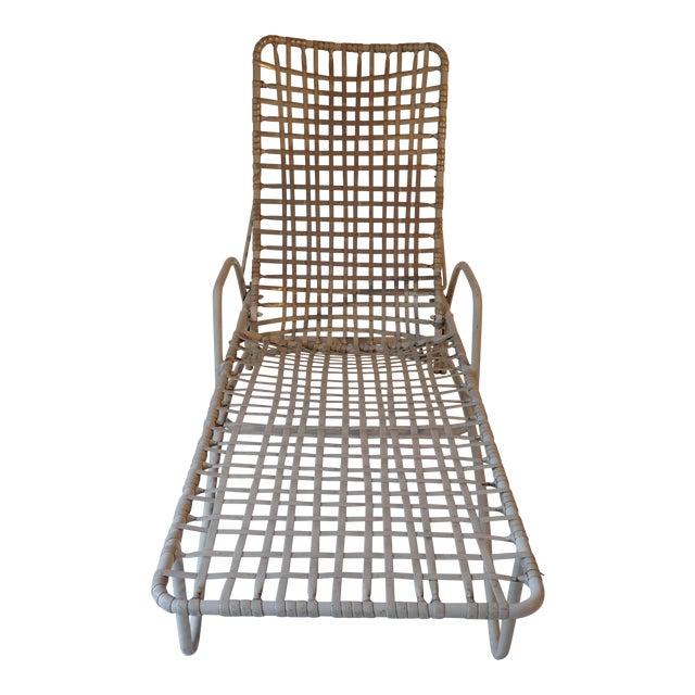 Brown jordan taupe chaise lounge chair chairish for Brown jordan chaise lounge
