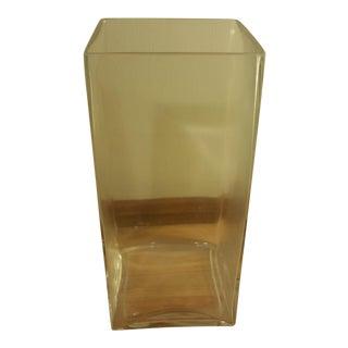 Rectangular Glass Vase