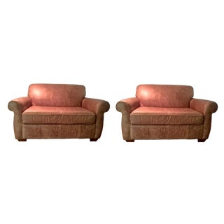 Leather Twin Loveseats - A Pair