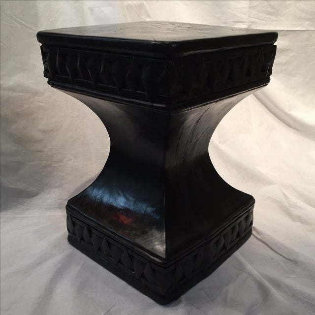 Antique Solid Iron Wood Accent Seat/Table - Image 3 of 11