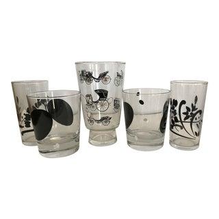 Mid-Century Modern Glasses - Set of 5