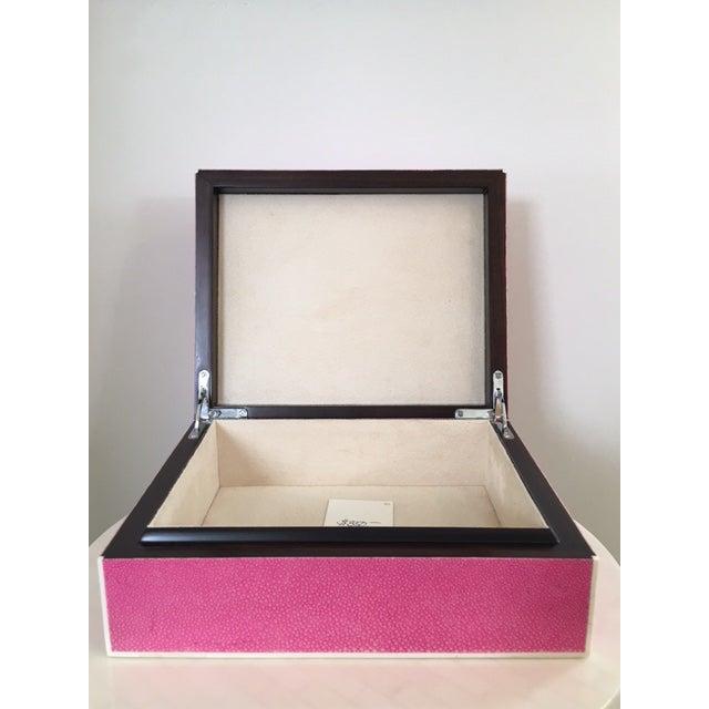 Hot Pink Shagreen Box - Image 3 of 5