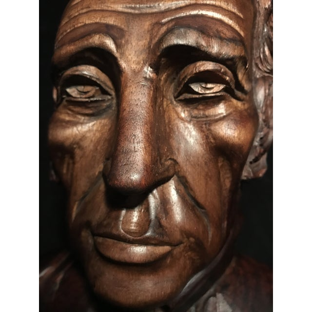 Circa 1970 Carved Wood Statue - Image 4 of 11