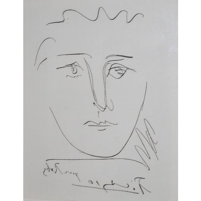 "Vintage ""Pour Roby"" Picasso Etching - Image 4 of 7"