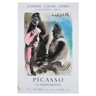 Vintage 1972 Picasso Exhibition Poster Lithograph