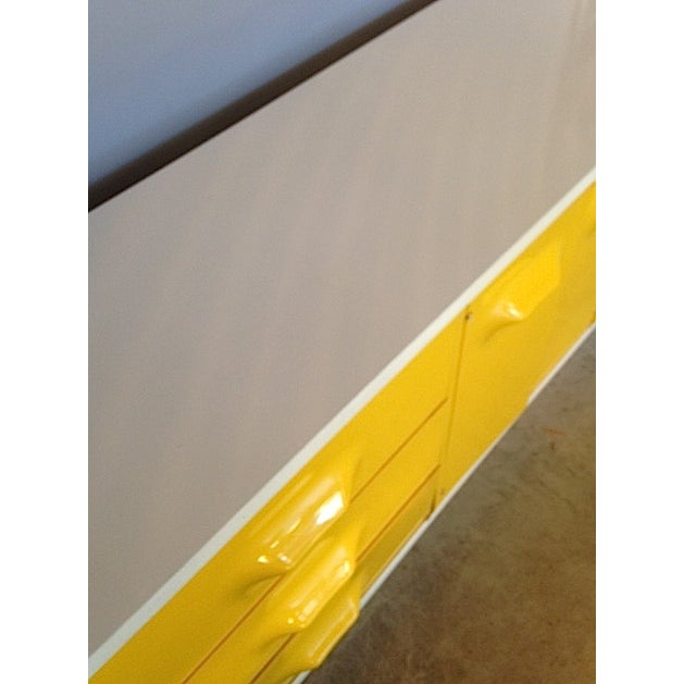 Yellow Broyhill Dresser/ Credenza - Image 11 of 11