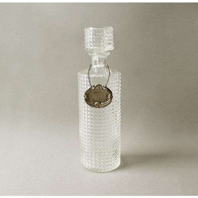 Vintage Crystal Glass Liquor Decanter Bottle Vodka - Image 2 of 6