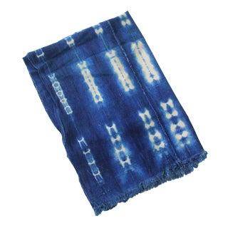 Vintage Indigo African Mud Cloth Textile