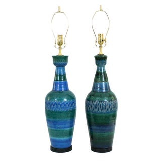 Bitossi for Raymor Italian Pottery Lamps - A Pair
