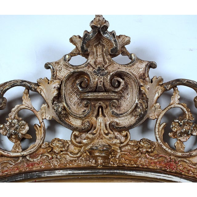 Late-19th Century Large Standing Italian Mirror - Image 2 of 9