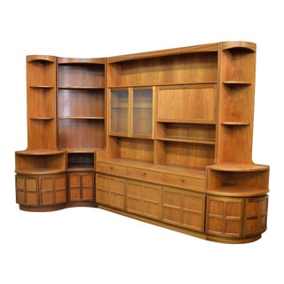 Mid Century Teak Wall Unit By Nathan Furniture