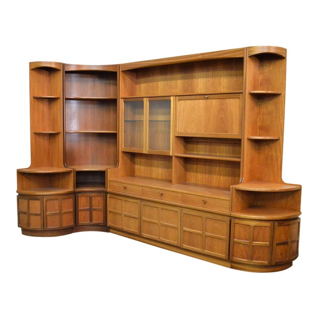 Mid Century Teak Wall Unit By Nathan Furniture - Image 1 of 11