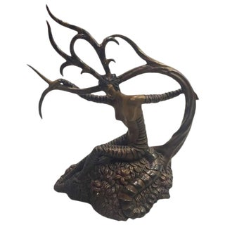 "Erte Romain De Tirtoff ""The Hunting"" Bronze Sculpture"