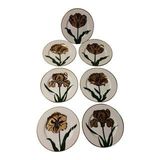 Fitz & Floyd Floraison Plates - Set of 7