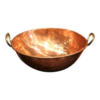 19th Century French Patinated Copper Round Jelly Bowl