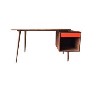 Mid-Century Style Custom Walnut Desk