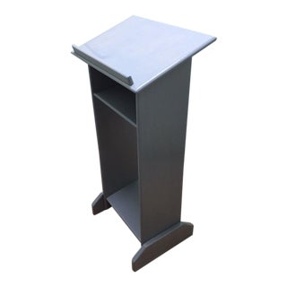 Solid Wood Custom Made Gray Podium