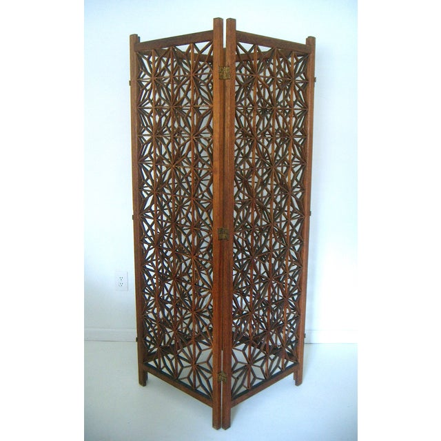 Https Www Chairish Com Product 308636 Geometric Hand Crafted Double Hinged Room Divider