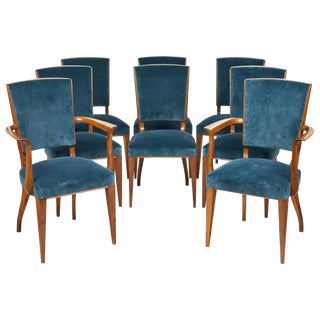 French Art Deco Cherrywood Dining Chairs- Set of 6