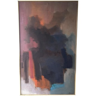 Mid-Century Abstract by R. Baranet