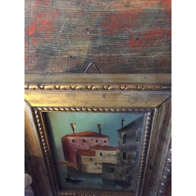 Image of Small Framed Italian Artwork