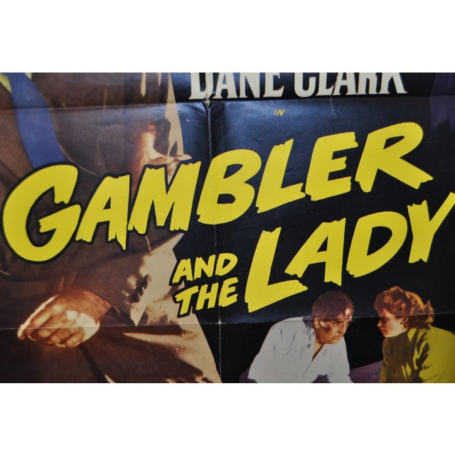 """Image of """"Gambler and the Lady"""" Movie Poster, Circa 1950's"""