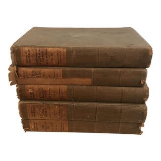 Set of Five Antique French Books