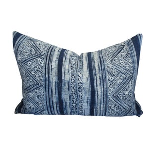 Blue Batik Print Pillow