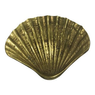 Brass Clam Shell Catchall Dish