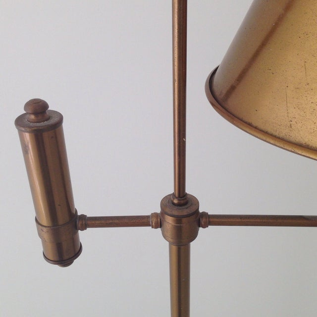 Image of Brass Colored Tole Floor Lamp