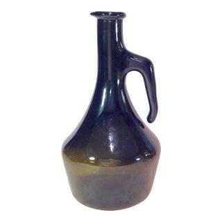 Vintage Italian Dark Green Wine Bottle