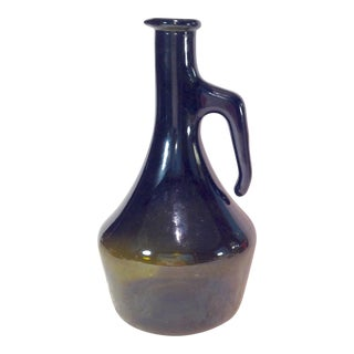 Vintage Italian Dark Green Wine Bottle
