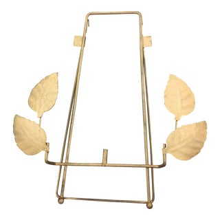 Mid-Century Metal Leaf Motif Picture Easel